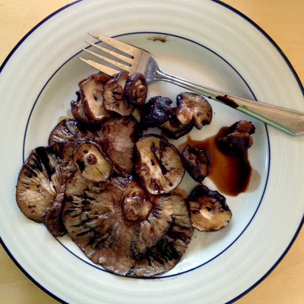 Grilled Shiitakes